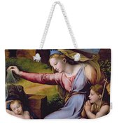 The Madonna Of The Veil Weekender Tote Bag