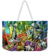 The Magical Rooftops Of Prague 02 Weekender Tote Bag by Miki De Goodaboom