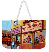 The Main Steakhouse On St. Lawrence Weekender Tote Bag