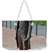 The Man Behind Monticello Weekender Tote Bag by DigiArt Diaries by Vicky B Fuller