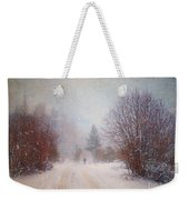 The Man In The Snowstorm Weekender Tote Bag by Tara Turner