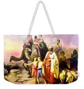 The March Of Abraham Weekender Tote Bag