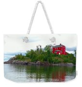 The Marquette Lighthouse Weekender Tote Bag