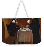 The Meal Of Saint Benedict Of Nurcia Weekender Tote Bag