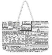 The Measurement Of Annual Time Weekender Tote Bag