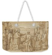 The Meeting Of San Carlo Borromeo And San Filippo Neri Weekender Tote Bag