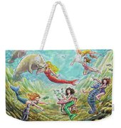 The Mermaids Of Weeki Wachee State Park Weekender Tote Bag