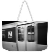 The Metro Is The Subway Train Weekender Tote Bag
