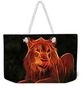 The Mighty Lion Weekender Tote Bag