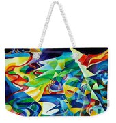 the migration of the Canadian geese Weekender Tote Bag