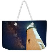 The Milky Way Over Pemaquid Point Weekender Tote Bag