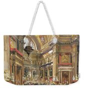 The Miracle Of The Liquefaction Of The Blood Of Saint Januarius Weekender Tote Bag