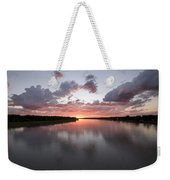The Missouri River At Sunset Reflects Weekender Tote Bag