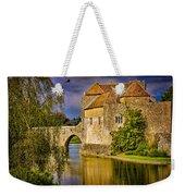 The Moat At Leeds Castle Weekender Tote Bag