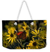 The Monarch And The Sunflower Weekender Tote Bag