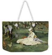 The Monet Family In Their Garden At Argenteuil Weekender Tote Bag