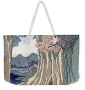 The Monkey Bridge In The Kai Province Weekender Tote Bag by Hiroshige
