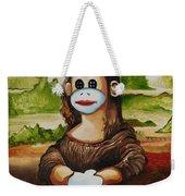 The Monkey Lisa Weekender Tote Bag