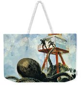 The Monster Of Serrana Cay Weekender Tote Bag by Graham Coton