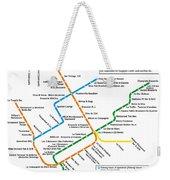 The Montreal Pubway Map Weekender Tote Bag