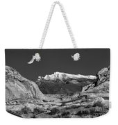 The Moon And The Mountain Range Weekender Tote Bag