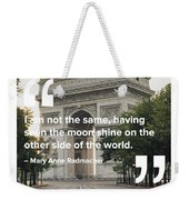The Moon Shines Weekender Tote Bag