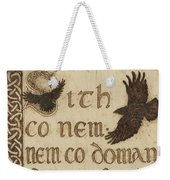 The Morrigan's Peace Prophecy - Sith Co Nem Weekender Tote Bag