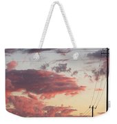 The Most #amazing #sunset Over #austin Weekender Tote Bag