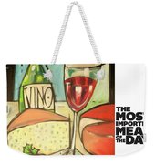 The Most Imported Meal Weekender Tote Bag