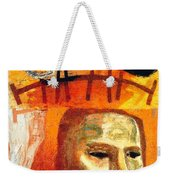 The Museum Of Mankind By Tube - Burlington Gardens - London Underground - Retro Travel Poster Weekender Tote Bag