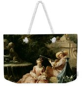 The Music Lesson Weekender Tote Bag by Francois Boucher