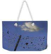 The Musical Barbed Wire Birds Weekender Tote Bag