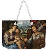 The Mystic Marriage Of Saint Catherine Weekender Tote Bag