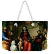 The Mystic Marriage Of St Catherine Of Siena With Saints Weekender Tote Bag