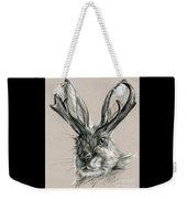 The Mythical Jackalope Weekender Tote Bag
