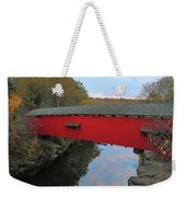 The Narrows Covered Bridge At Dusk Weekender Tote Bag