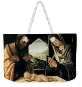 The Nativity Weekender Tote Bag by Lorenzo Costa