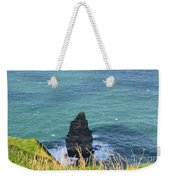 The Needle Off The Cliff's Of Moher In Ireland Weekender Tote Bag