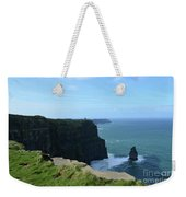 The Needle Rock Formation On The Cliff's Of Moher Weekender Tote Bag