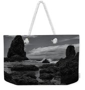 The Needles Black And White Weekender Tote Bag