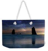 The Needles Rocks Under Starry Night Sky Weekender Tote Bag
