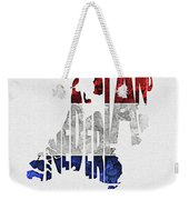 The Netherlands Typographic Map Flag Weekender Tote Bag