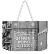 The New Drink Monochrome Weekender Tote Bag