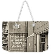The New Drink Sepia Weekender Tote Bag