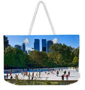 The New York Central Park Ice Rink  Weekender Tote Bag