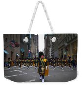 The New York City Police Emerald Society Pipe And Drum Corps Weekender Tote Bag