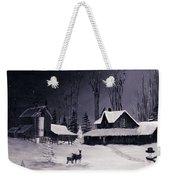 The Night Before Christmas Silvertoned Weekender Tote Bag