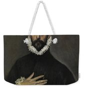 The Nobleman With His Hand On His Chest Weekender Tote Bag