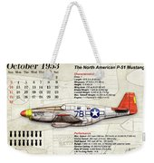 The North American P-51 Mustang V1 Weekender Tote Bag