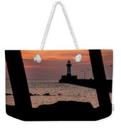 The North Pier Lighthouse Weekender Tote Bag